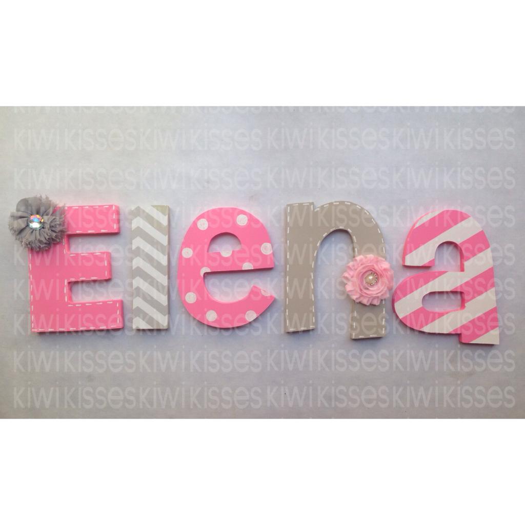 Nursery decor letters letras de madera para decorar proyectos que - Letras de madera para decorar ...