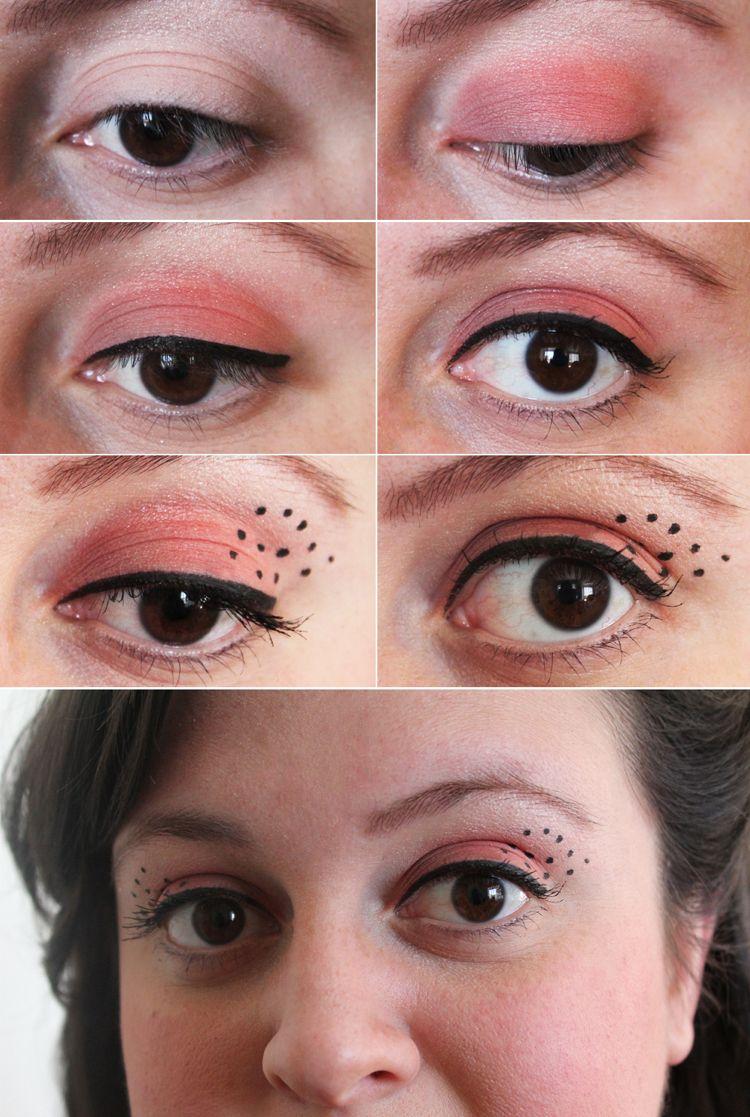 marienkäfer dezent schminken Erwachsene Augen #fasching # ...