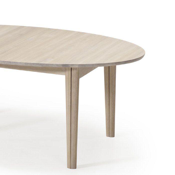 Table de salle à manger ovale scandinave en bois avec allonges - SM78