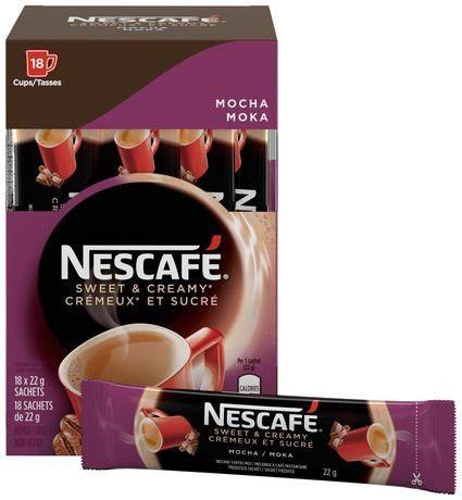 Nescafe Sweet Creamy Instant Mocha Coffee 18 X 22g From Canada In 2020 Coffee Sachets Nescafe Instant Coffee Instant Coffee