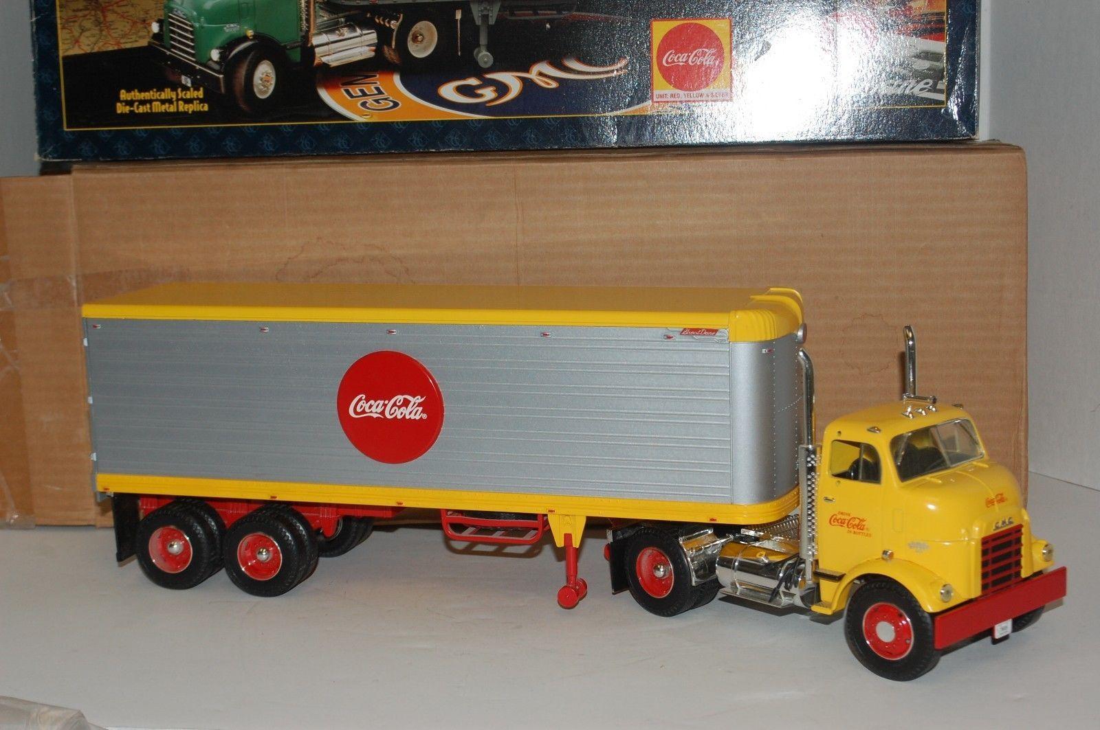 Ertl Coca-Cola GMC Diesel Coke Tractor Trailer Silver 1:25 w/ Stock Box KB 59F https://t.co/g0DVZ66TOi https://t.co/DtTNpzoHpM