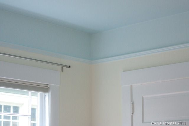 Painting The Ceiling Instead Of The Walls I Like This Drop Down Of Ceiling Colour Onto The Walls Too I Wonder If This W Blue Ceilings Sky Ceiling Blue Walls