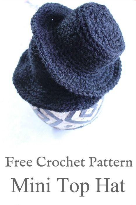 Mini Top Hat Crochet Pattern Cream Of The Crop Crochet Doll
