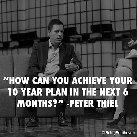 achieve your goal brilliant motivational quote from peter thiel