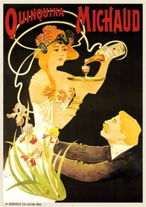 Quinquina Michaud Poster By Fernel 1899 France