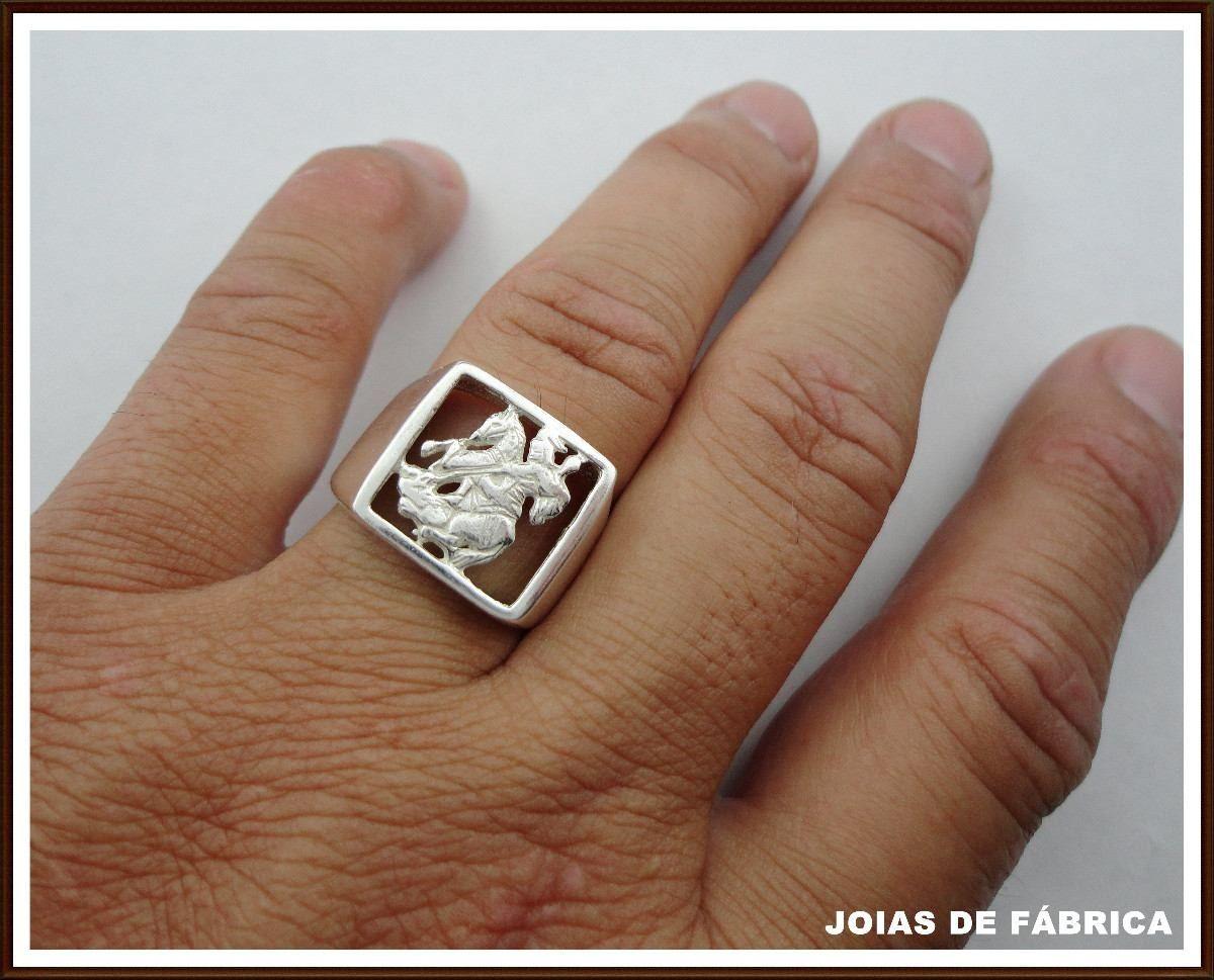 12d6aceeb2 Lindo anel de Prata 950 vazado São Jorge  br Informe o tamanho do ...