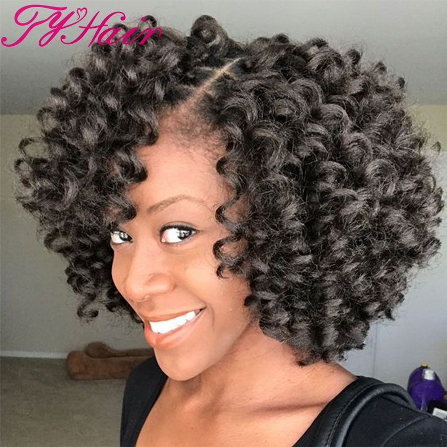 Ombre Synthetic Hair Extension 8inch Kanekalon Braiding Crochet Braids Curly Wand Curl Crocheted Hairstylesmom Hairstylack