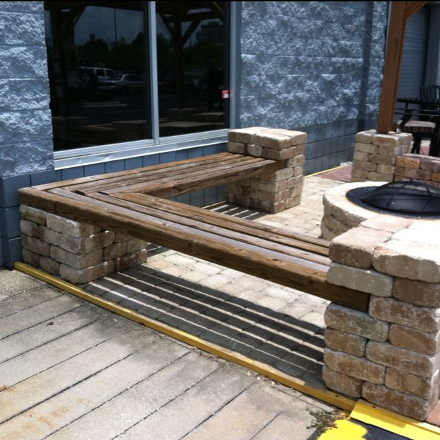 Saw This Corner Bench At Lowes Today I Could Totally Make This Outdoor Fire Pit Seating Diy Bench Outdoor Fire Pit Seating