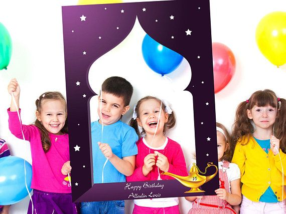 Aladdin themed party photo booth frame