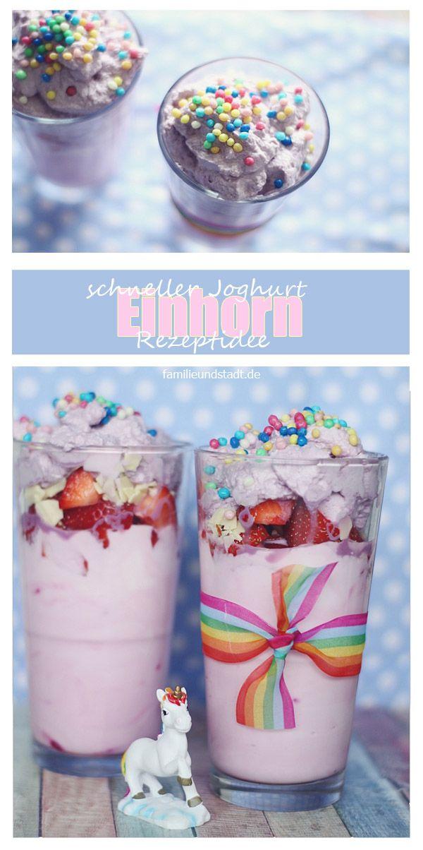 Pinker Joghurt Einhorn Rezeptidee Pins Von Familinchen