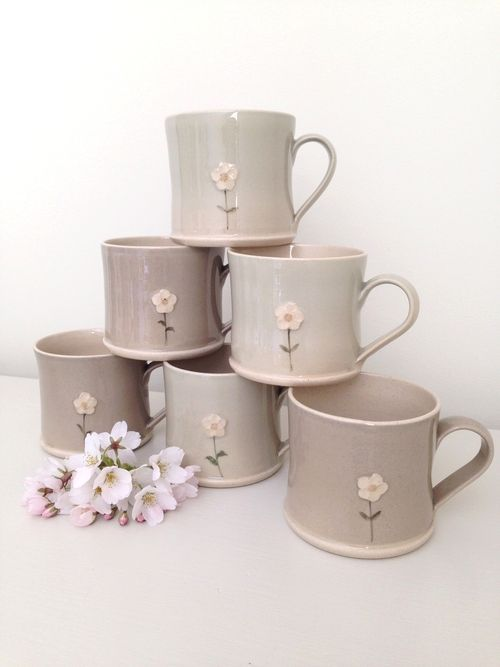 Daisy espresso mugs by Jane Hogben at Clarabelle Interiors