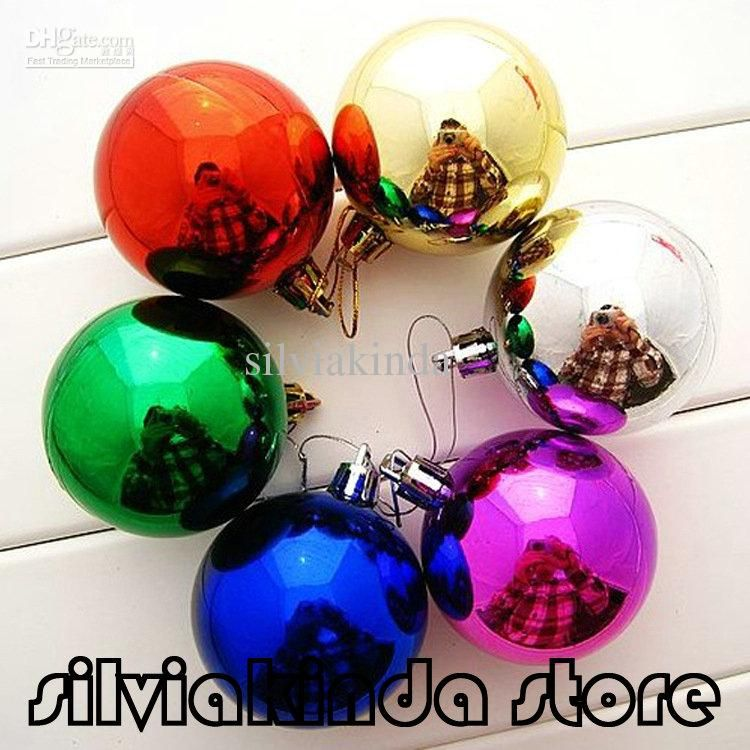 180pcslot 6cm large shiny multi color christmas bell balls plastic tree hanging item ornaments decorations seasonal deco