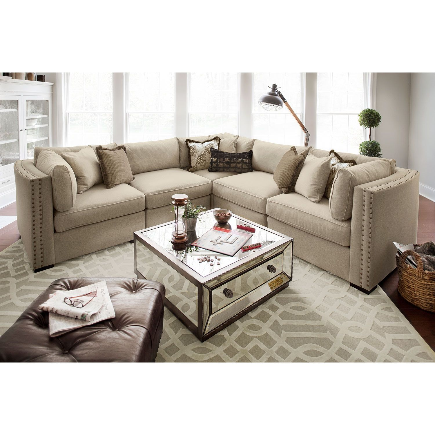 With Its Sandy Taupe Hue And Its Low Profile, The Athens Sectional