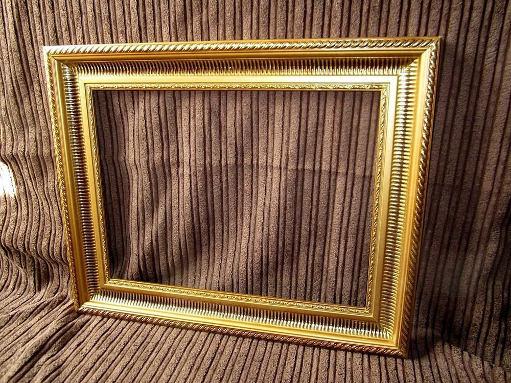 Goldener Gemälderahmen ,Bilderrahmen ,Prunkrahmen Spiegel Rahmen ...