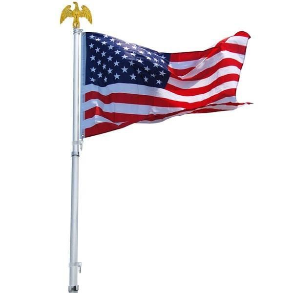 Thediyoutlet 30 Ft Aluminum Sectional Flagpole Kit With American Flag Flag Pole Kits Telescoping Flagpole American Flag