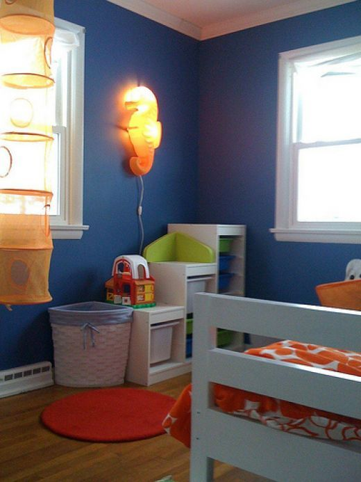 Little Boys Design Organe Green And Blue Decorating A