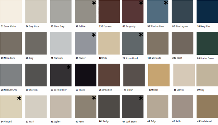 Johnsonite Palette A Color Chart House Amp Home