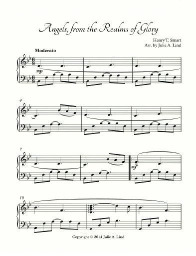 free christmas piano sheet music intermediate