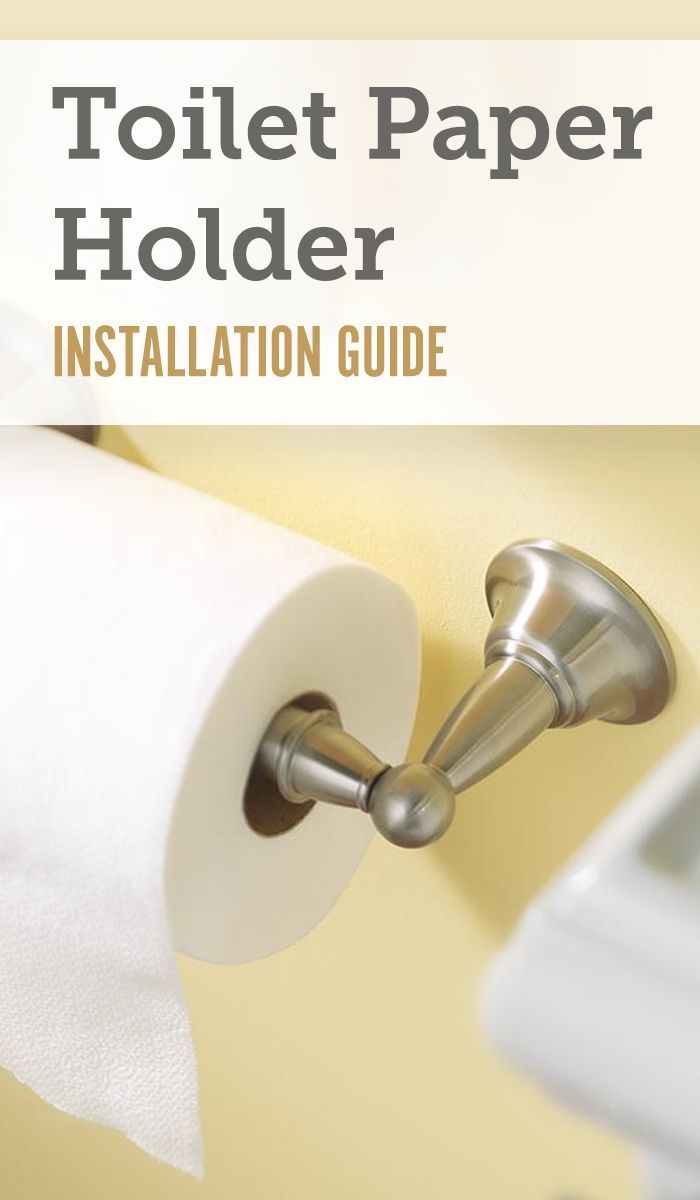 How to Install a Spring-Loaded Toilet Paper Holder   Home ...