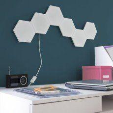 Kit panneau LED décoratif Puzzle 1 x 2 9 W plastique blanc