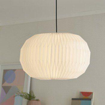 Suspension Design Artesia plastique blanc 1 x 60 W INSPIRE