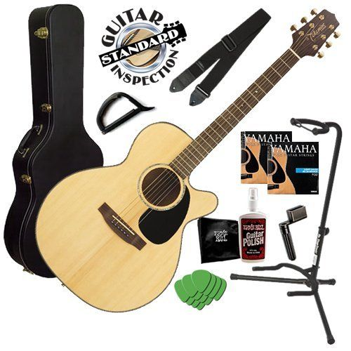 Takamine Eg440sc Guitar Bundle W Hard Case Strap Stand By Takamine 499 99 Takamine Acoustic Electric Guitar Bundle I Guitar Instrument Tuner Instruments