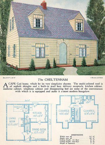 1928 Home Builders Catalog The Cheltenham Home