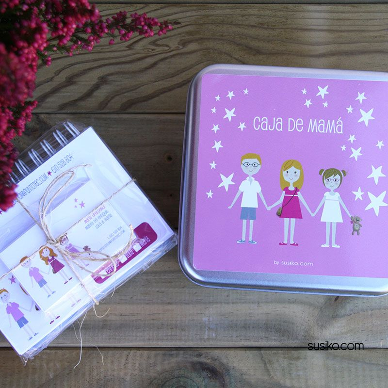 Cajas de regalo, personaliza la tuya  y rellena con tarjetas de visita, tarjetones y sobres a juego, bloc de notas, sello personal...