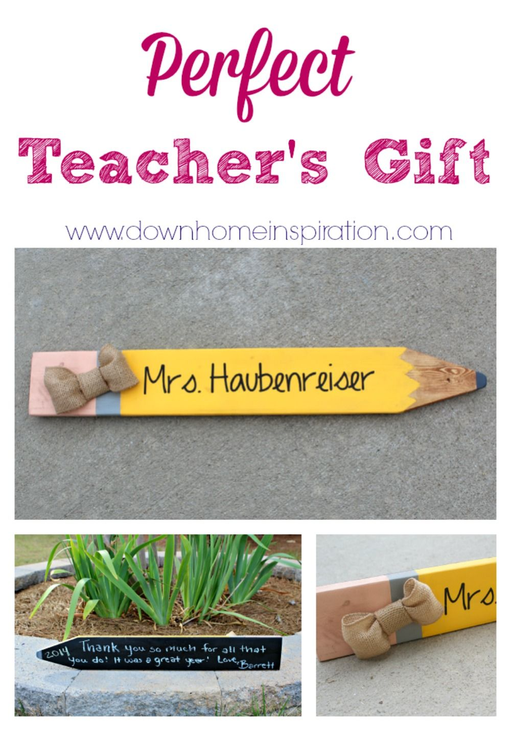 Oh wow, love this!  It is so cheap and cute!  Perfect Teacher's Gift - Down Home Inspiration