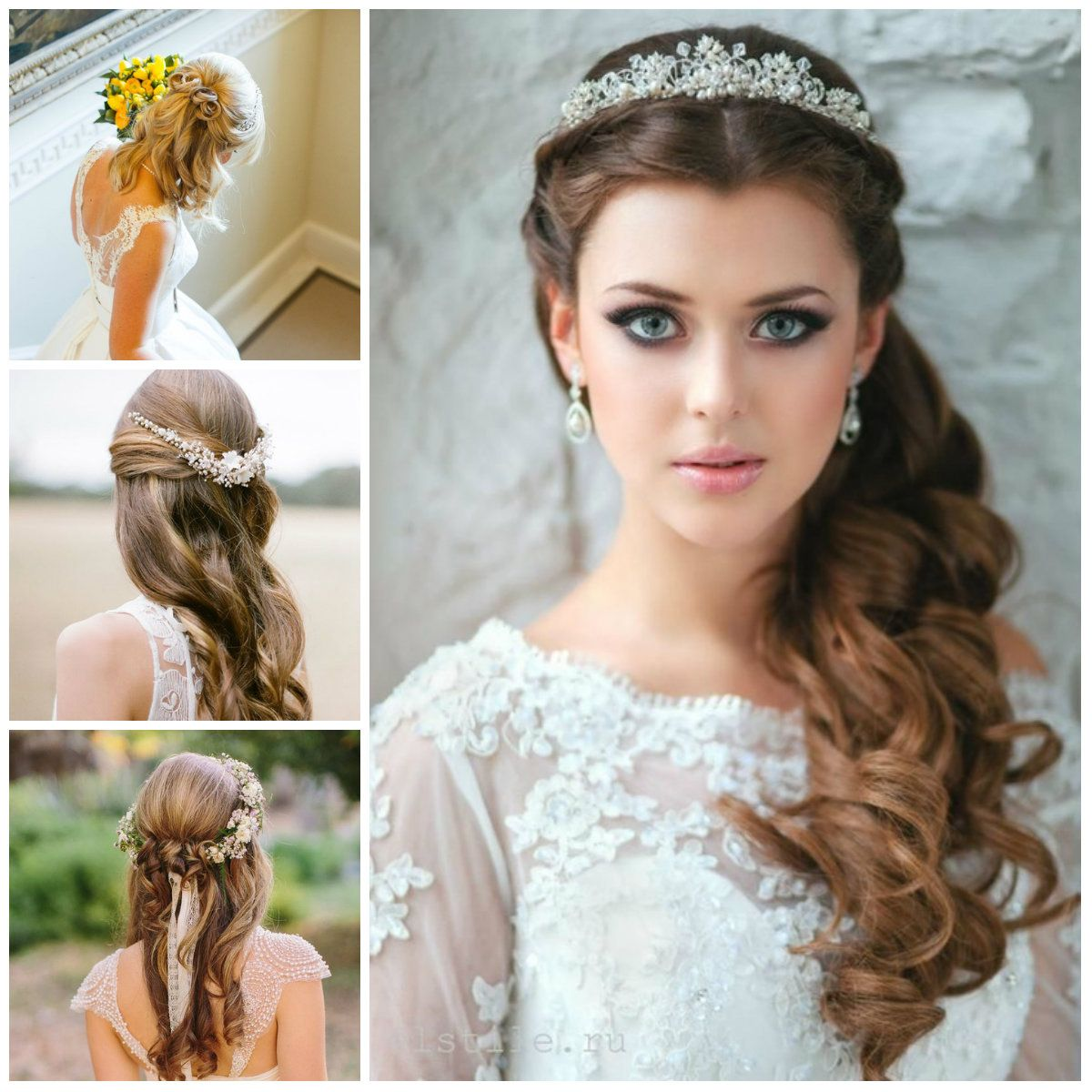wedding updo hairstyles half para 2017 | peinados 2018 | pinterest