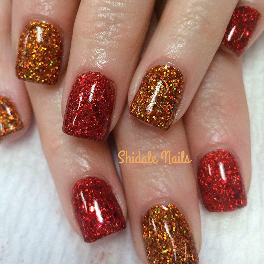 Perfect fall time nails. Shidale nails