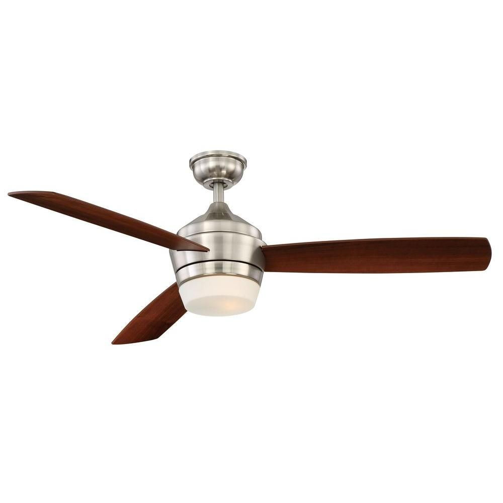Hampton Bay Marucci 52 In Indoor Brushed Nickel Ceiling Fan With