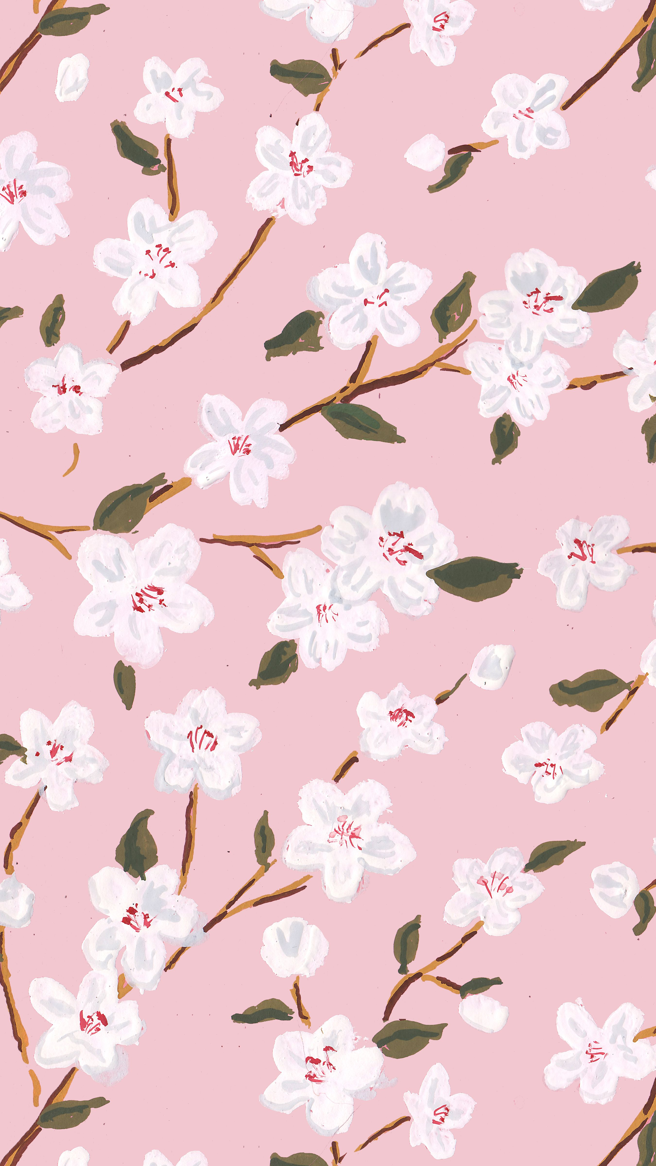 Cherry Blossoms Gift Wrap, pink wrapping paper, floral gift wrap, spring gift wrap, Easter gift wrap, floral gift wrap, flowers gif