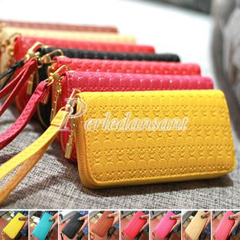 5.50 euro incl shipping Fashion Womens Lady's Wallet Purse Handbags Clutches Pocket Bag Cards Design Skull 7 Colors PU Leather Free Shipping BG0102
