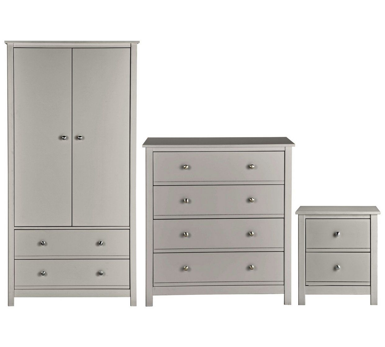 Buy Argos Home Brooklyn 5 Piece 5 Door Tall Wardrobe Set - Grey