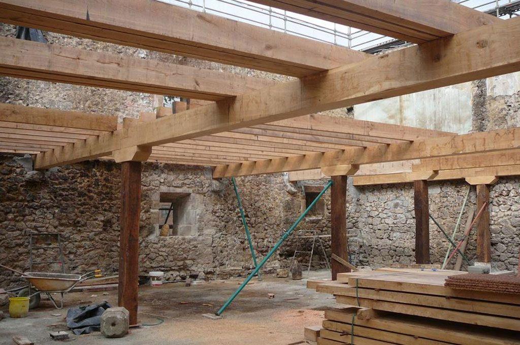 Imagen de casa con techos de madera techo pinterest - Casas con estructura de madera ...