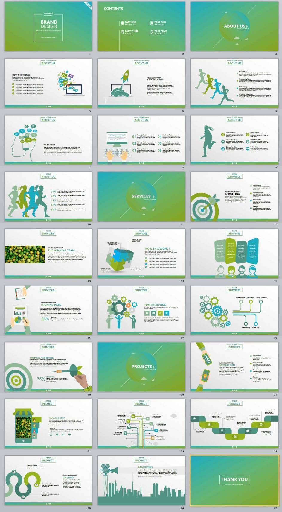 27 brand design business professional powerpoint templates fast