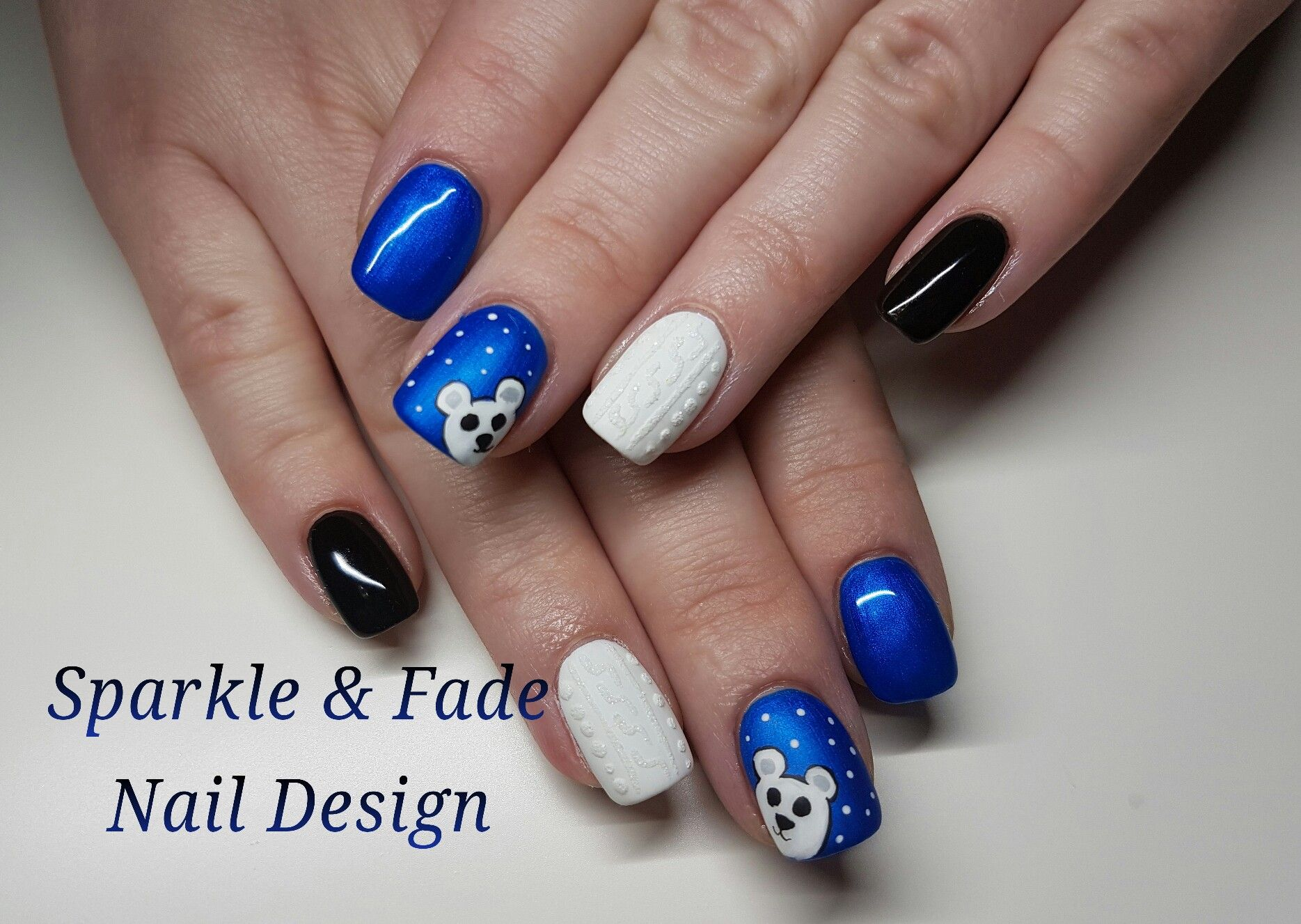 Super Cute Polar Bear, Sweater Nails - Done by Christine Ingalls of ...