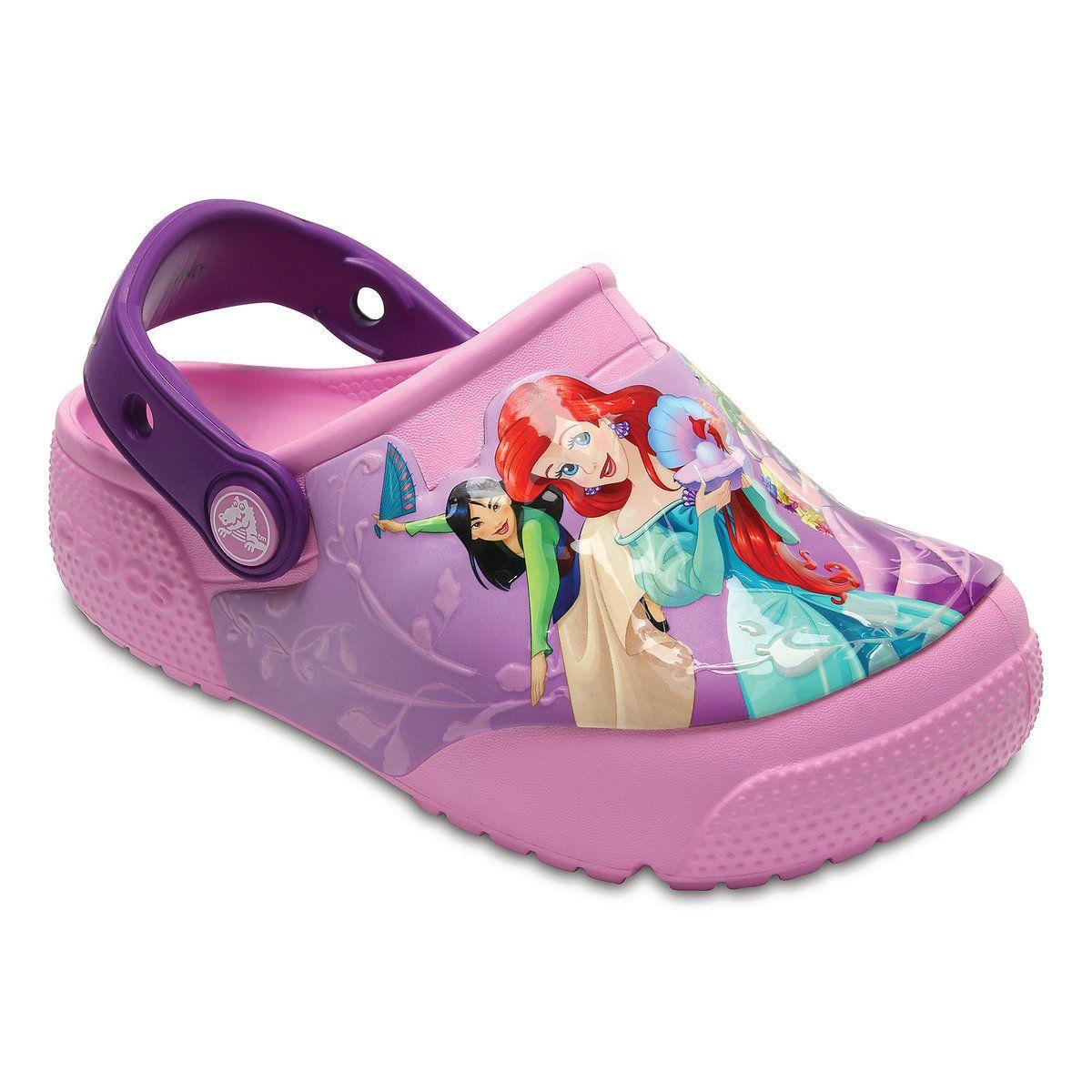 76b4a4419e22d9 Disney Princess Light-Up Clogs for Kids by Crocs
