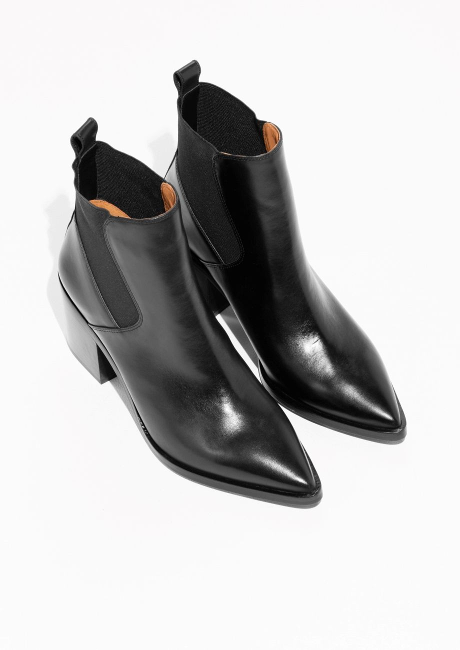 & OTHER STORIES Chunky Chelsea Leather Boots