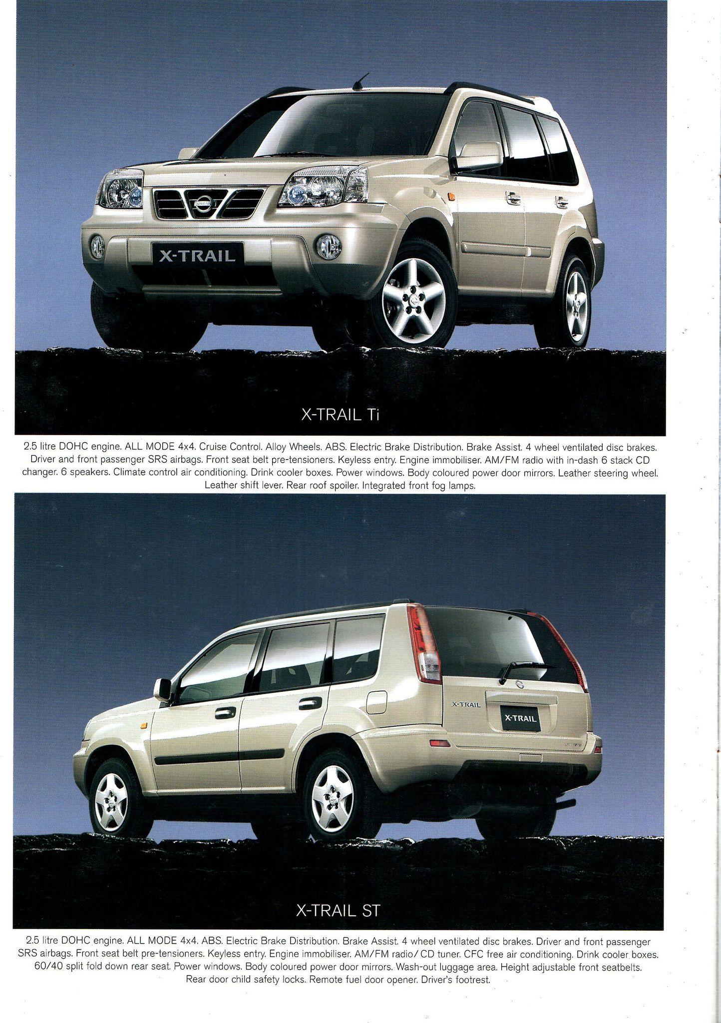 2003 Nissan X Trail St Ti Australian Brochure Page 14 Nissan Car Ads Nissan Motors