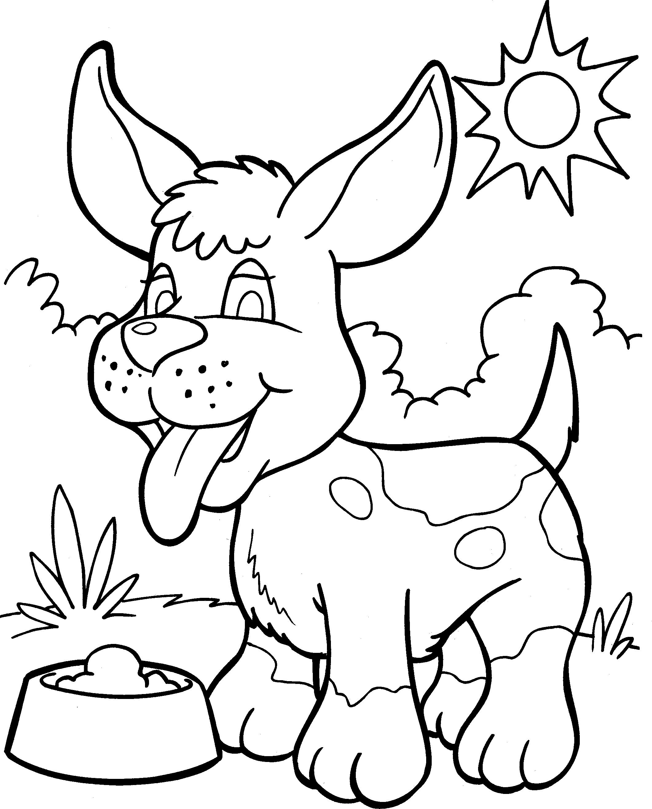 Honden Kleurplaat Cat Coloring Page Animal Coloring Pages Dog