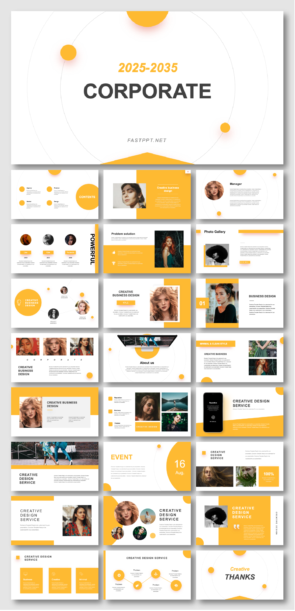 Brand & Marketing Design Presentation Template – Original and high quality PowerPoint Templates download