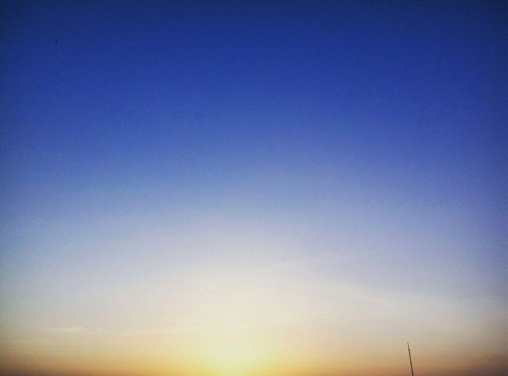 #Sunset in field