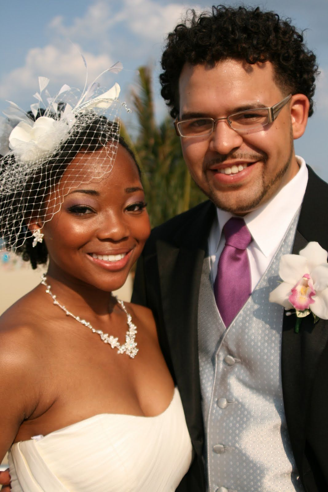 Natural hair bride nappy nuptuals pinterest black love