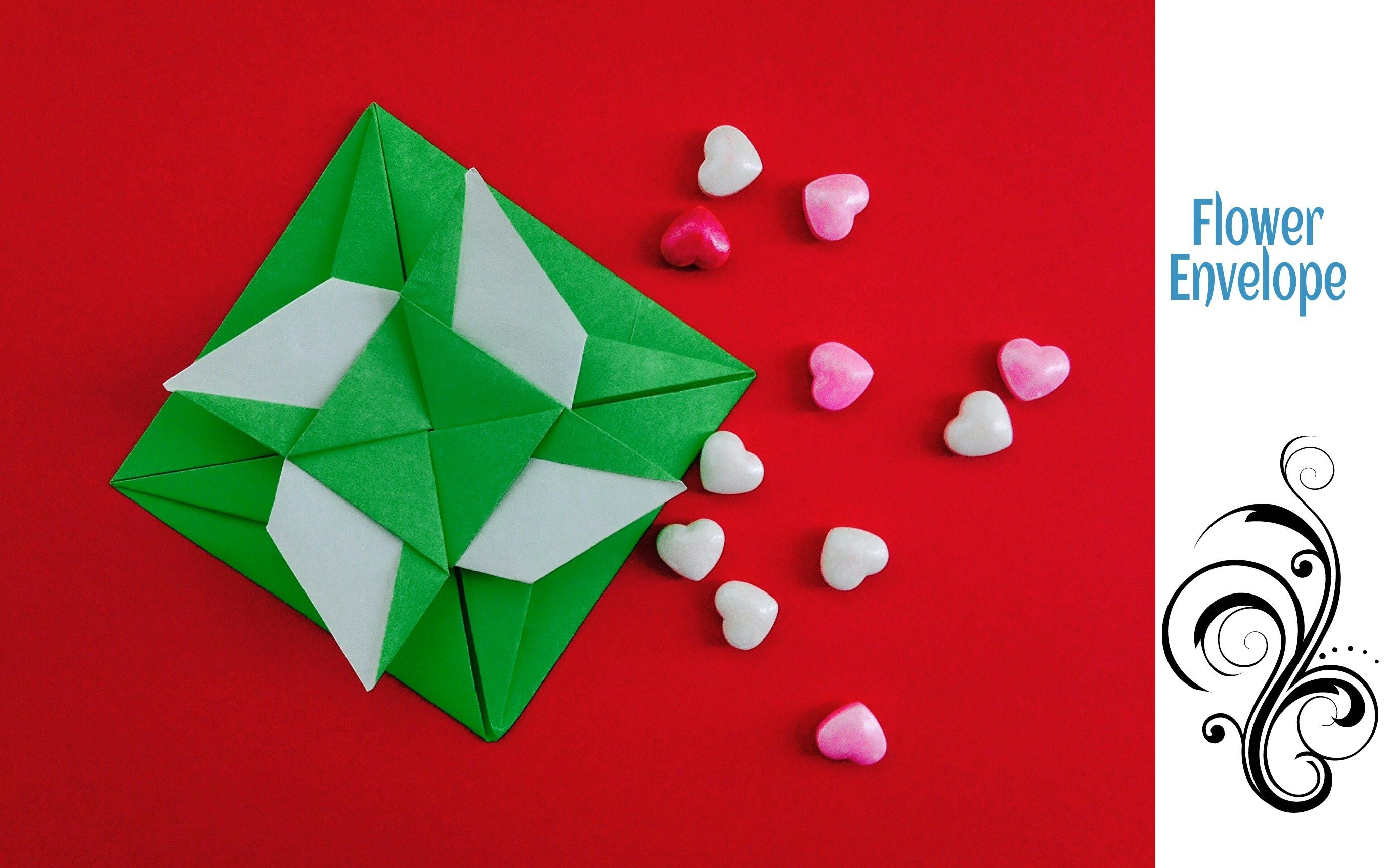 Origami Paper Flower Envelope Letter With Secret Message