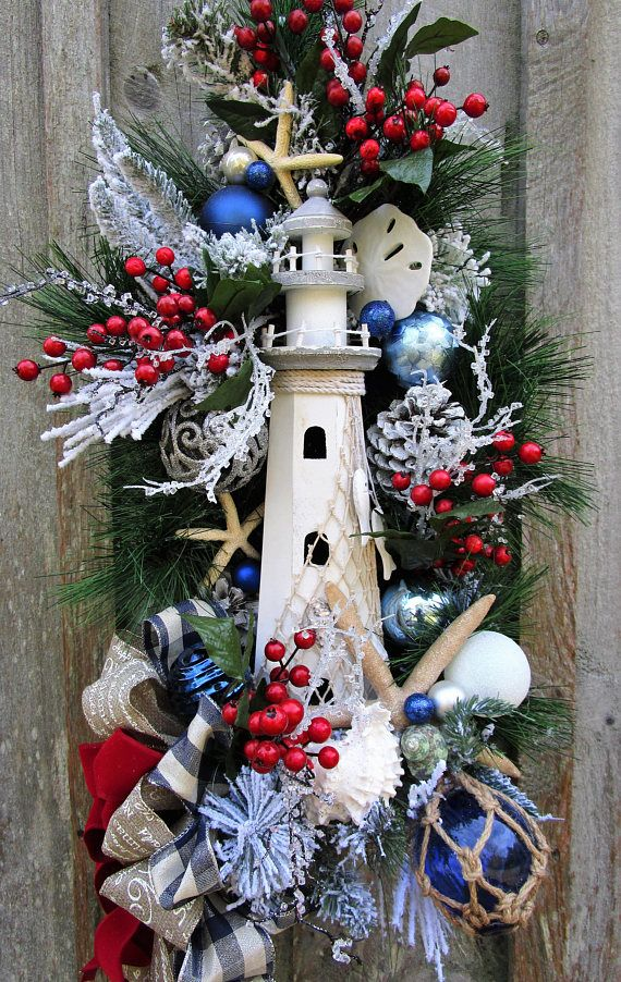 Nautical Christmas Wreath.Pin On Nautical Wreaths