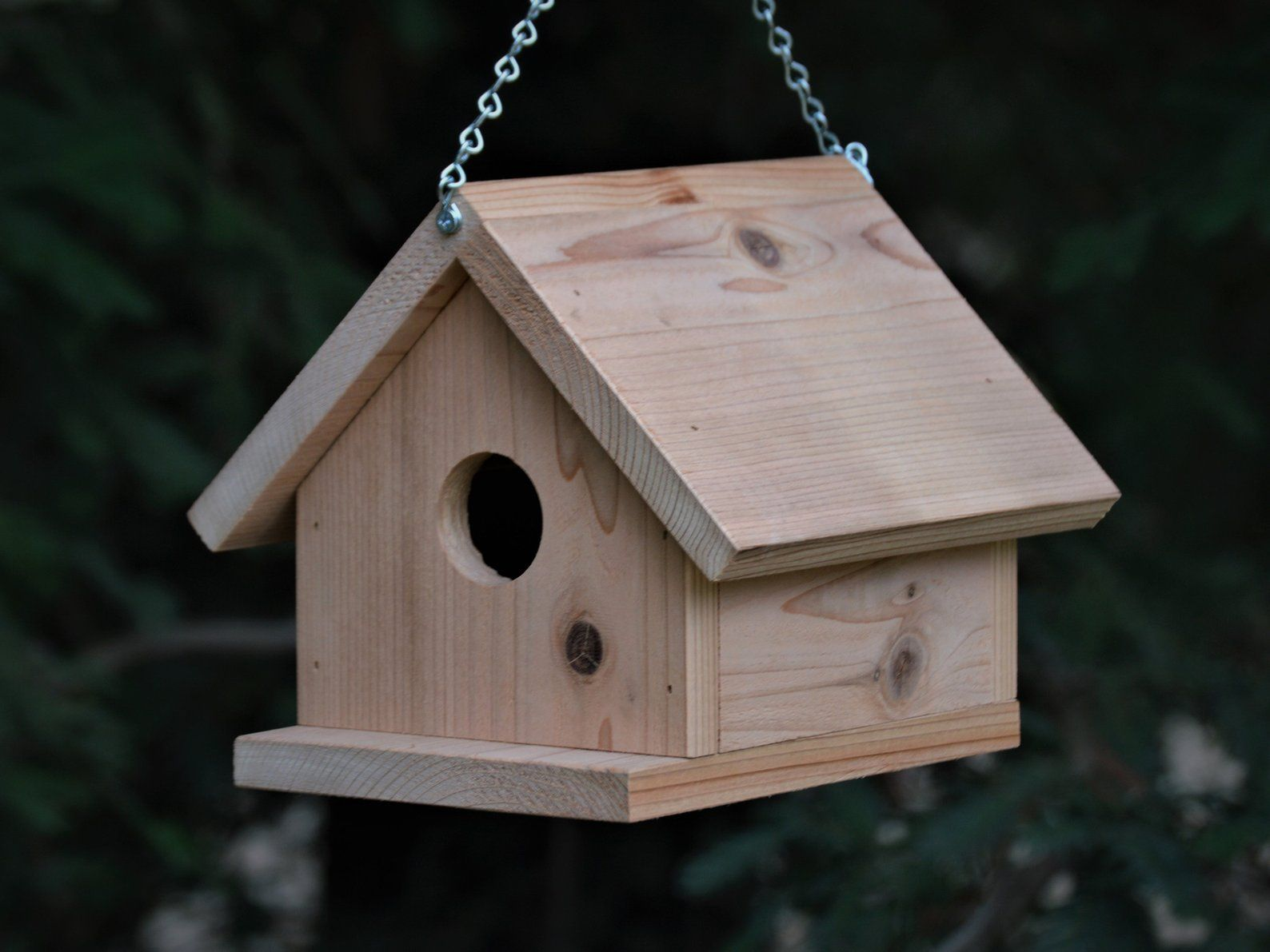 Birdhouse Hanging Style Made From Cedar Wood Etsy Wooden Bird Houses Bird Houses Bird House