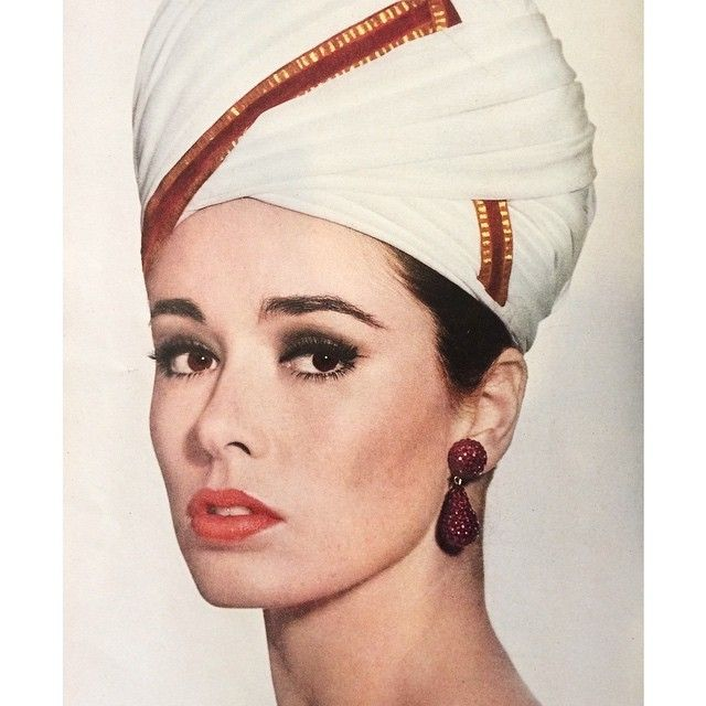 Vogue Magazine On Instagram Fabulous White Turban Found In American Vogue March 1963 Earrings By Kjl Peach Makeup Vogue Magazine Hats Vintage Peach Makeup