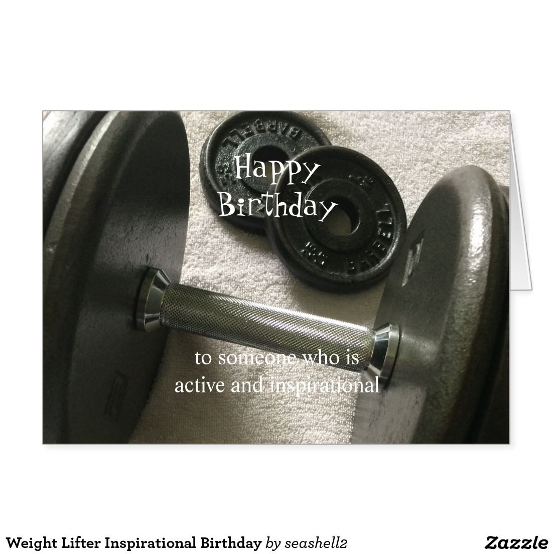 Weight lifter inspirational birthday card weight lifters and weight lifter inspirational birthday card m4hsunfo